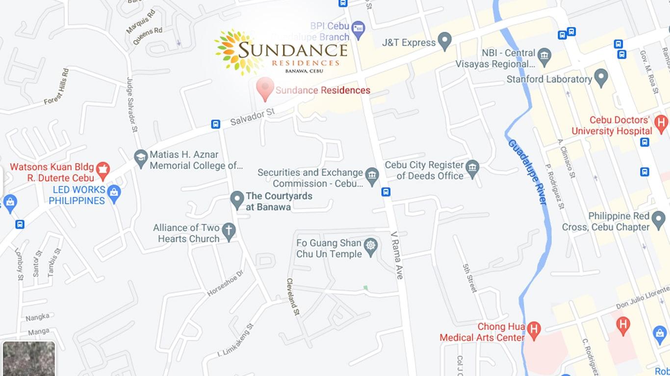 Sudance Residences Map